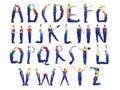 Construction man alphabet