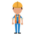 Construction man wearing vest helmet protection Royalty Free Stock Photo