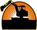 Construction Mechanical Digger Stock Image