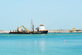 The construction of 210-metre Dubai Eye Royalty Free Stock Photo