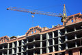 Construction of multi-storied brick houses Stock Image