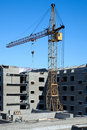 Construction of a multistory building Royalty Free Stock Photo