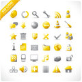 Construction and mutimedia icons Stock Photography