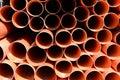 Construction orange pipes Royalty Free Stock Photo