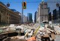 Construction outside Union Station Toronto Royalty Free Stock Photo