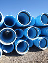 Construction pipe a stack of water at a site Royalty Free Stock Photo