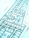Construction plan, office building Royalty Free Stock Photo