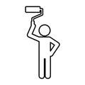 Construction professional avatar silhouette