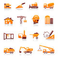 Construction and real estate icons Stock Photography