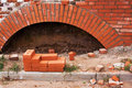 Construction and red brick Stock Images