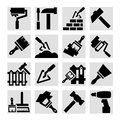Construction and repair icons elegant set created for mobile web applications Royalty Free Stock Photography