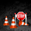 Construction repair of roads concept background Royalty Free Stock Photography