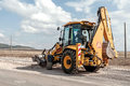 Construction and repair of roads and highways Stock Images