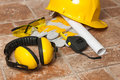 Construction safety equipment Stock Images