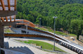 Construction of sanki luge center for winter olympics sochi russia july on july in sochi russia capacity Stock Image