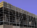 Construction scaffolding Stock Image