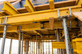 Construction site ceiling framing Royalty Free Stock Image