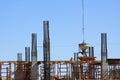 Concrete Pour at a Construction Site Royalty Free Stock Photo