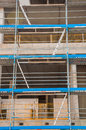 Construction site of concrete edifice place big city building concstruction Stock Photos
