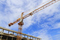 A construction site with a crane Stock Photography