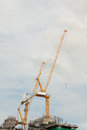 Construction site crane in on sky background Royalty Free Stock Photography