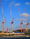 Construction Site Cranes Royalty Free Stock Photo