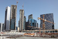 Construction site in Doha Stock Images