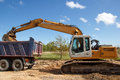 Construction site. excavator Stock Photo