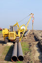 Construction site with gas pipeline Stock Image