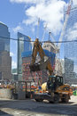 Construction site in ground zero new york usa july workers on work on rebuilding the on july new york Stock Image