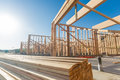 Construction Site Home Framing Abstract. Royalty Free Stock Photo