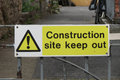 Construction site keep out Royalty Free Stock Photo