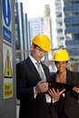 Construction Site Managers Having A Meeting Royalty Free Stock Photography