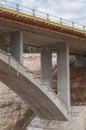 Construction site motorway bridge Royalty Free Stock Photo