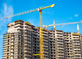 Construction site multi level building Royalty Free Stock Images