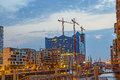 Construction site of the new elbphilharmonic building in the har hamburg germany aug harbor city on aug hamburg germany it will be Royalty Free Stock Image