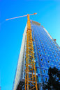 Construction Site Skyscraper and Crane Royalty Free Stock Photo