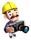 Construction site staff a photo shoot Royalty Free Stock Photo
