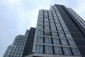Construction site with tower crane over blue sky oct sofia bulgaria Stock Photos