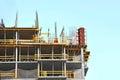 Construction site work building against blue sky Stock Photo