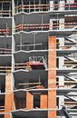 Construction site work building from concrete and brick Stock Photo