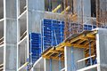 Construction site work building from concrete and brick Stock Photography