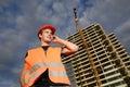 Construction supervisor Royalty Free Stock Photography