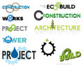 Construction themed text graphics Royalty Free Stock Photography
