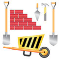 Construction toll set. Royalty Free Stock Photos