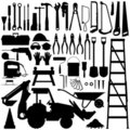 Construction Tool Silhouette Vector Royalty Free Stock Image