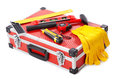 Construction toolkit on white background Royalty Free Stock Image