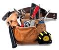 Construction tools belt Royalty Free Stock Photo