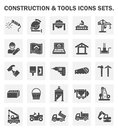 Construction and tools icon Royalty Free Stock Photo