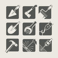 Construction tools set of vector icons illustration Royalty Free Stock Photography